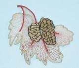 """Sheer Leaf with Pine Cone 3"""" x 2 3/8"""""""