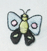 Butterfly Light Blue With Dot Wing Mini 10 Pack