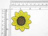 """Sunflower Embroidered iron on Applique 2 1/4"""" Fully Embroidered Measures 2 1/4 """" across x  2"""" high"""