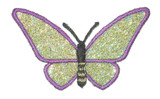 """Butterfly 2 1/2"""" Purple & Green Sparkle Wings"""