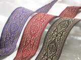 """Jacquard Ribbon -  1 1/2"""" (38.1mm) Tan & *Colors*"""