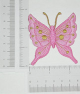 """Butterfly Pink & Gold 2 1/2"""""""