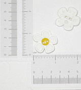 "Button 1 1/8"" Flat Daisy 2 Hole Per Piece"