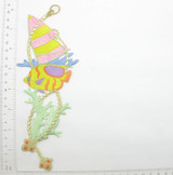 """Pastel Fish Marine Reef 7 3/4"""" x 3 3/8"""" Iron On Patch Applique  Fully Embroidered with Rayon and Metallic Threads  Measures 7 3/4"""" high x 3 3/8"""" wide approximately"""
