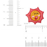 3 x Sun Singing Embroidered Iron on Applique
