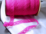 """Insertion Lace 1 1/8"""" Hot Pink 25 Yards"""