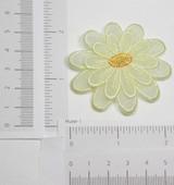 Light Yellow Sheer Layered Flower
