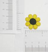 "Daisy 1"" (25mm)  Yellow Black Eyed"