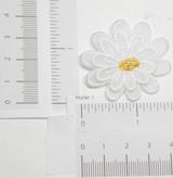 White Sheer Layered Flower