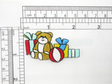 Teddy Bear with Gifts Iron On Embroidered Applique