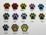 """Paw Print Small 1"""" *Colors*"""