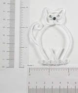 Outline of Cat in White with Gem Eyes