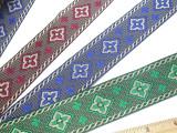 "Jacquard Ribbon 1 1/2"" (38mm) Chain Design *Colors*"