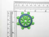 Ships Wheel Patch Green & Royal