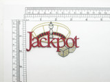 Jackpot Patch Roulette & Dice Iron On Embroidered Applique