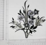 Black & Silver Floral Spray
