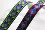 "Jacquard Ribbon 15/16"" Abstract Diamonds *Colors*"
