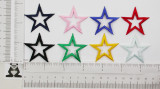 """Open Star 1 5/8"""" (41.27mm) Embroidered Iron On Patch Applique"""