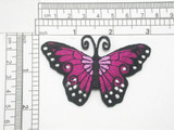 """Butterfly Mauve & Lilac 3"""" x 2"""" Iron On Patch Applique (75mm x 50mm) approx  Fully Embroidered with Rayon Threads  3"""" x 2"""" (75mm x 50mm) approx"""