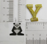 "Letter Y 1"" Metallic Gold"
