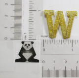 "Letter W 1"" Metallic Gold"