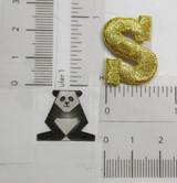 """Letter S 1"""" Metallic Gold"""