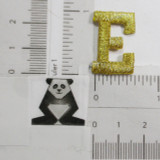 """Letter E 1"""" Metallic Gold"""
