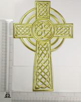 """Celtic Cross White & Gold 12"""" x 7 3/4"""""""