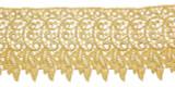 "Venise Lace 4"" Metallic Gold Per Yard."