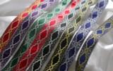 "Jacquard Ribbon 1 1/4"" Ziggy Star Metallic *Colors*"