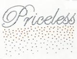 """Rhinestud Applique - """"Priceless"""""""
