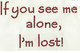 """Rhinestud Applique - """"If you see me alone ... I'm lost!"""""""
