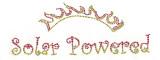 "Rhinestud Applique - ""Solar Powered"""