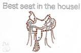 "Rhinestud Applique - ""Best seat in the House"" Saddle"