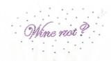 "Rhinestud Applique - ""Wine Not?"""
