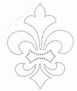 Fleur de Lys Silver Rhinestud Applique
