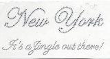 "Rhinestud Applique - New York ""Its a jingle out there"""