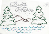 Rhinestud Applique - Lake Tahoe scenic