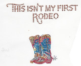 This Isn't My First Rodeo Western Stud Applique