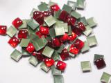 Hot Fix Stud - Cabochon Epoxy Square 7mm *Colors* 100 piece pack apx