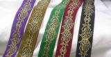 "Jacquard Ribbon 1 1/4"" (33mm) Celtic Wolf *Colors* Prices Per Yard"