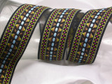 """Jacquard Ribbon 1 1/2"""" (37mm) Heavy Embroidered Priced Per yard"""