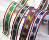 "Jacquard Ribbon 3/4 "" (20mm) Native Star Design priced Per Yard"