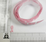 "Self Adhesive Patch Pink  Awareness Ribbon 1"" on roll 50 pieces"