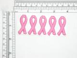"Pink  Awareness Ribbon 1 1/2"" Self Adhesive Patch 5 pack"