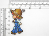 Farmer Girl Gardener Embroidered Iron On Applique