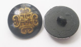 "Button 1"" (25mm) Domed with Inlay Shank  - Per Piece"