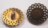 "Button 1"" (25mm) Aged Bronze with Swirl Pattern - Per Piece"