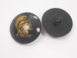 "Button 1"" (25mm) Centurion Head Black Background  - Per Piece"