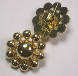 "Button 1"" (25mm) Ball Cluster Gold  Fancy  - Per Piece"